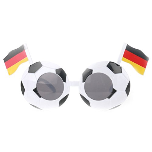 TOYMYTOY Soccer Sunglasses World Cup Fan Fancy Dress Eye Glasses Party Favors Supplies Costume (Germany)