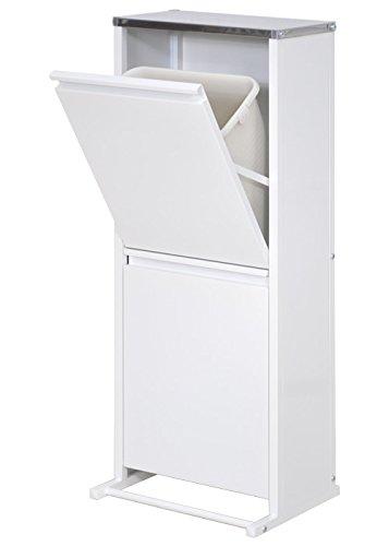 ステンレス天板ダストボックス ひろびろ横型 (ホワイト, 2分別) B009B4CRM0 ホワイト|2分別 2分別 ホワイト