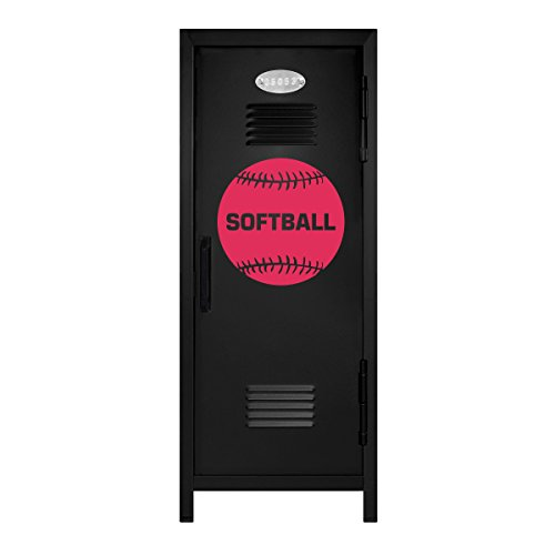 Black/Hot Pink Softball Player Mini Locker Gift - 10.75