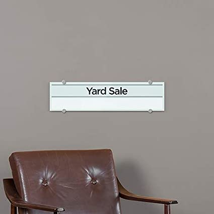 CGSignLab Yard Sale Basic Teal Premium Brushed Aluminum Sign 5-Pack 24x6