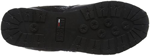 para Sequin Tommy Negro Wedge Hilfiger Tj Black 990 Sneaker Zapatillas Mujer At4Ytr