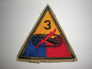 US Army 3RD Armored Division Patch WWII (Reproduction) by HighQ Store - Army Wwii Patches