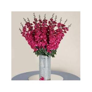 18 to 27 Fuchsia Delphinium Stems Filler Silk Wedding Flowers Bouquet Decoration 25
