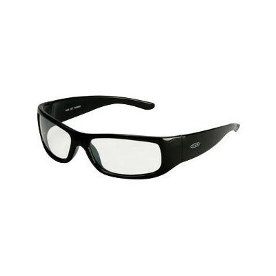 3M Moon Dawg Safety Glasses With Black Frame And Clear Indoor/Outdoor Mirror Polycarbonate Anti-Fog Lens