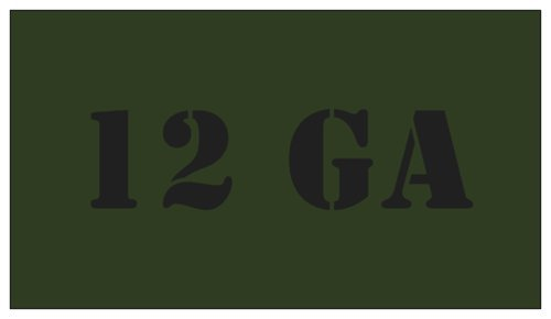 5pcs 12 GA OD Green with Black Lettering for
