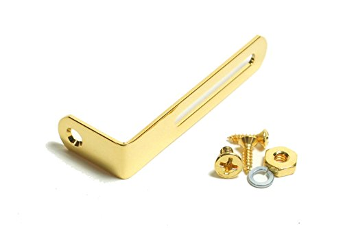 (bangdan Pickguard Bracket with screws for Gibson Les Paul, Gold metal)