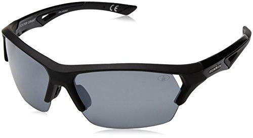 Ironman Men's Excursion Wrap Sunglasses, Black, 63 mm