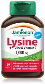 Jamieson Lysine Zinc Vitamin C 1000mg, 60 caplets