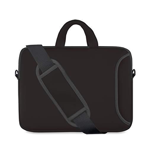 Laptop Shoulder Bag 15.6,15-15.4 inch Neoprene Laptop Case Sleeve with Carrying Handle and Adjustable Shoulder Strap Compatible for Notebook Chromebook