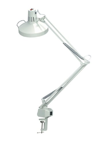 Studio Combo Lamp with 13 Watt CFL Bulb- White