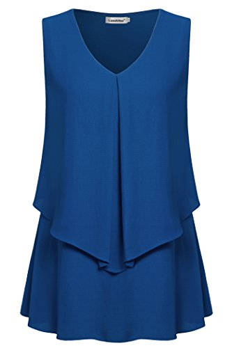 Lem Hao Womens Chiffon Sleeveless