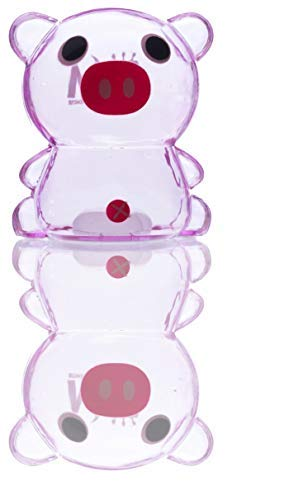 Money Master Kids Smart Pig Bank, Clear Plastic Light & Super Small Enough to Fill UP Fast! Make Saving Money Fun for - Clear Piggy Bank Plastic