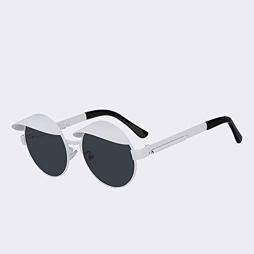 de redondas gafas superior gafas W Vintage metálica Tapas Steampunk calidad estilo de de Hombre sol w oro White TIANLIANG04 verde G15 UV400 black Vintage Mujer 5qwPYO