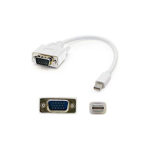 Addlogix AddOn MDISPORT2VGAMM3W-5PK Bulk 5 Pack 3ft (1M) Mini-Displayport to VGA Cable - M/M Bare Drive by Addlogix