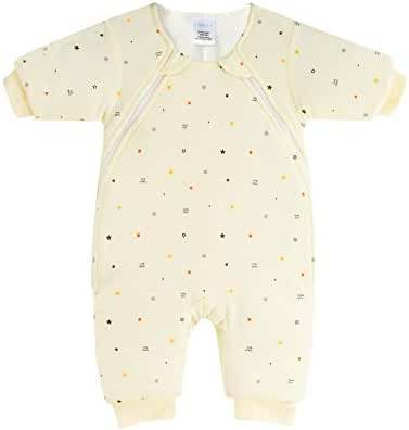 LAKALA Infants Transition from Swaddle: Sleepsuit/Wearable Blanket for Baby/Baby Sleepsuit - Yellow - 6-9 Months