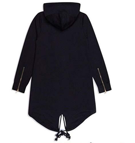 with Mens Leisure Apparel Outerwear Coat Huixin Jacket Cotton Long Slim Schwarz Pockets Casual Jacket Multi Winter Fit Parka Sleeve Hood pA5a5qgwx