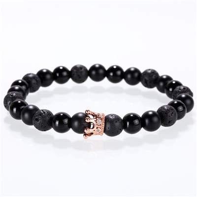 Amazon.com: BATOP Stone Bracelet/Men/for Women/Natural/Lava ...