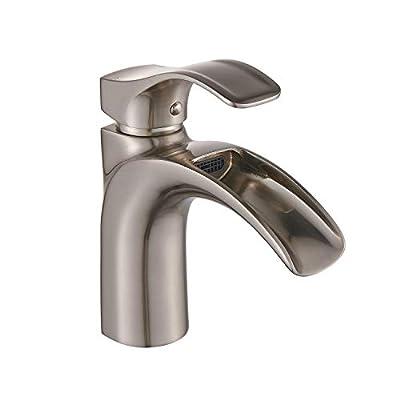 Yodel Single Handle Waterfall Bathroom Sink Faucet