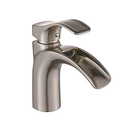 (Yodel Single Handle Waterfall Bathroom Sink Faucet (Brushed Nickel))