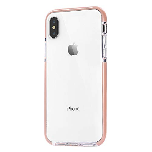 (JAHOLAN Clear Case Flexible TPU Hybrid Shockproof Anti-Scratch Slim Thin Bumper Phone Case for iPhone Xs Max 2018 (6.5 inches) - Pink)