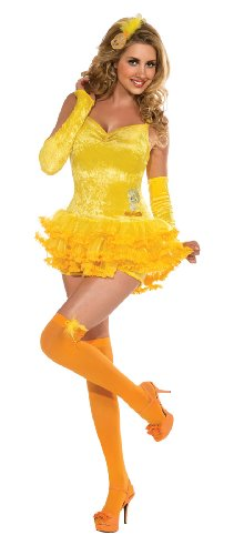 Secret Wishes Looney Tunes Sexy Tweety Costume Dress, Yellow, Small