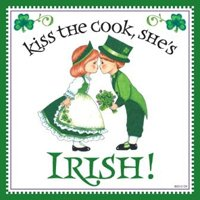 Essence of Europe Gifts E.H.G Kiss the Cook, She's Irish Decorative Wall Tile Irish Gift ()