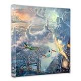 Thomas Kinkade Tinker Bell & Peter Pan Canvas Wrap