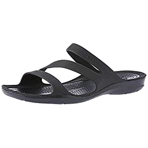 Crocs Women's Swiftwater Sandal Sport Black, 9 M US