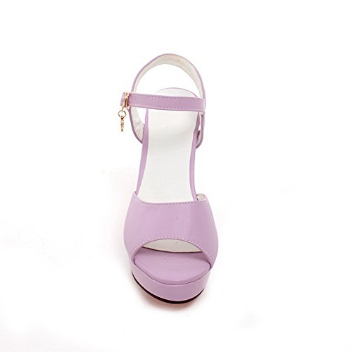 Style European Sandals Metalornament Solid 1TO9 Purple Womens Polyurethane UIxpww