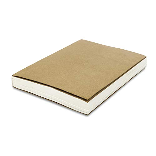 Blank Paper Refill Notebooks - for Moonster Refillable Leather Journal - Eco Friendly Acid-Free & Tree-Free Recycled Cotton Unlined Notepad 8.25x5.75 Inches with 240 Beautifully Soft Pages