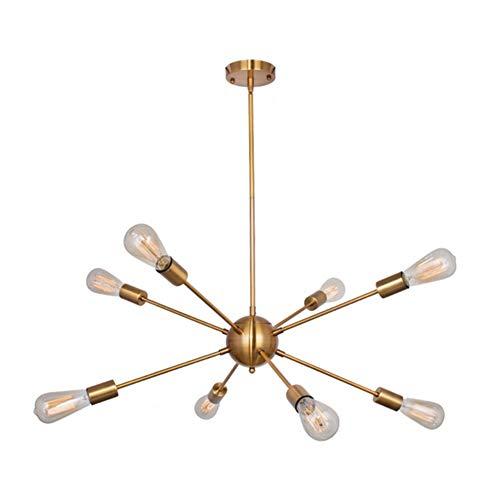 Sputnik Globes Glass Chandelier,e27 Pendant Lamp Branch Type Ceiling Lamps-8-lights