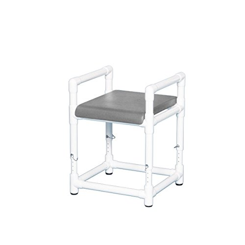 Shower Bench W/Dlx Solid Seat Gray