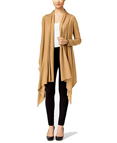 (Cable & Gauge Womens Multi-Wrap Open-Front Cardigan (Camel Hair, Petite-Small))