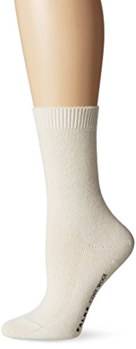 Falke Women's Cosy Wool Socks, Off White, 35-38