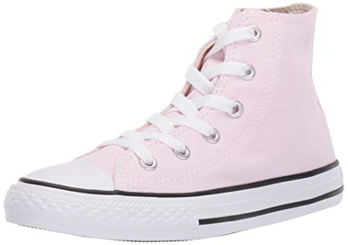(Converse Girls Kids' Chuck Taylor All Star 2019 Seasonal High Top Sneaker, Pink Foam/Natural Ivory/White, 4 M US)