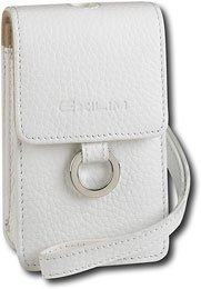 - Casio Exilim EX-Case30WE Leather Pouch with Metal Ring Universal Camera Case for all Casio Cameras (White)