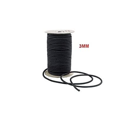 Black Elastic Bungee Rope Shock Cord Tie down 5m 3mm Camping Tent Rod Cord