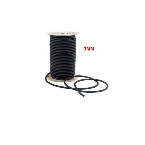 3MM BLACK TENT POLE ELASTIC SHOCK CORD (5M LENGTH) Wuxi Stainless Steel Co