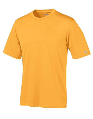Champion Men's Essential Double Dry Tee_C/Gold_XL - Champion Thongs