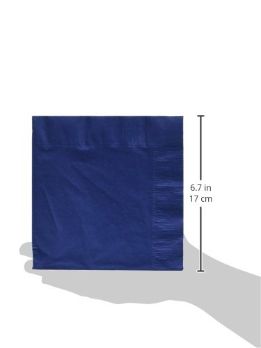 150-Count Touch of Color Paper Lunch Napkins, Navy Blue - 3 Packs