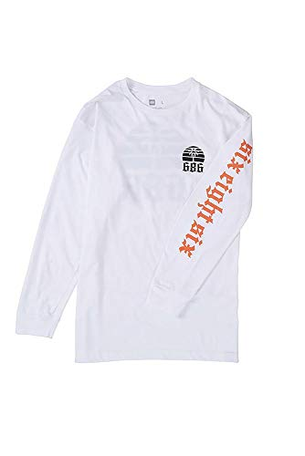 686 Men's Paradise Long Sleeve T-Shirt | 100% Ring Spun Cotton | White - M ()
