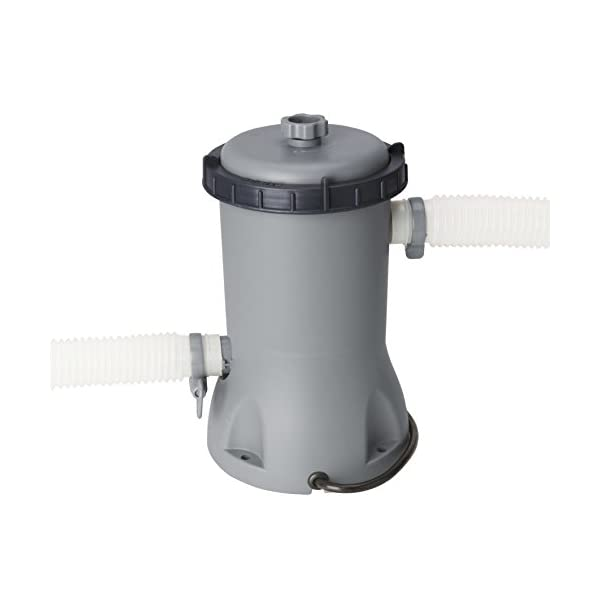 BESTWAY 56620 – Piscina Desmontable Tubular Power Steel Oval 427x250x100 cm Depuradora de Cartucho de 2.006 litros/hora