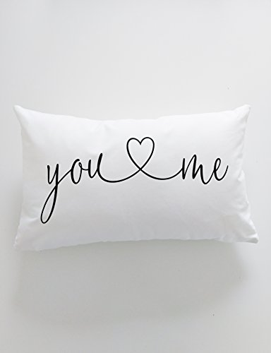 Throw Pillow You and Me Bedroom Decor Master Bedroom Lumbar Pillow Quote Unique Wedding Gift Romantic Gift Throw Pillow with Words Quotes