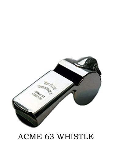 Acme Thunderer Model Nickel-plated Brass Metal Police Security Whistle