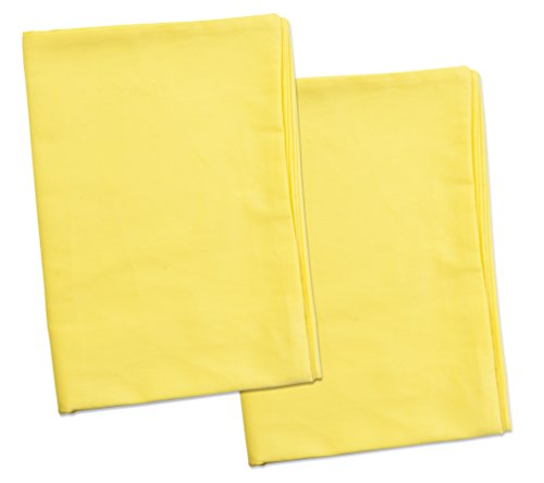 2 Yellow Toddler Pillowcases - Envelope Style - For Pillows Sized 13x18 and 14x19 - 100% Cotton With Percale Weave - Machine Washable - ZadisonJaxx ZacharyPaul Collection - 2 Pack
