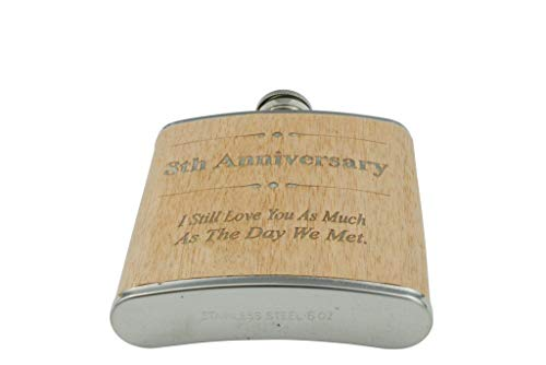 8th Anniversary Hip Flask 8 Year Anniversary Gift For Him
