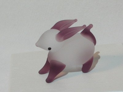 Collectibles Crystal Figurines Opaque Purple Bunny, Rabbit