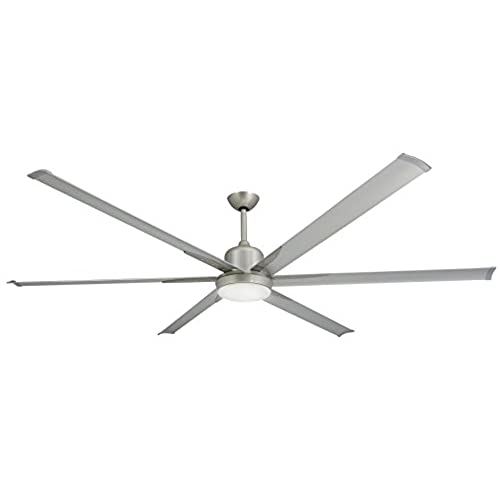 Large industrial ceiling fans amazon troposair titan brushed nickel large industrial ceiling fan with dc motor 84 extruded aluminum blades integrated light and remote aloadofball Images
