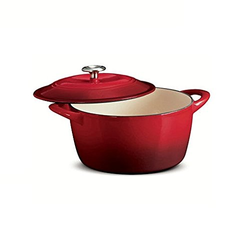 Tramontina 6.5 Qt Enameled Cast Iron Dutch Oven Red
