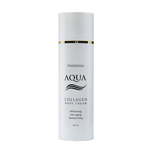 Protective Anti Aging Body Cream (Authentic Mosbeau AQUA Collagen Body Cream - Collagen and Hyaluronic Acid for Whitening, Anti-Aging and Moisturizing- NEW FORMULA!)